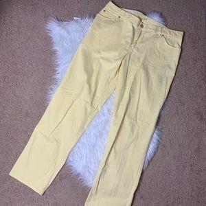 ❤️ J. Jill Relaxed Fit Boyfriend Yellow Jeans